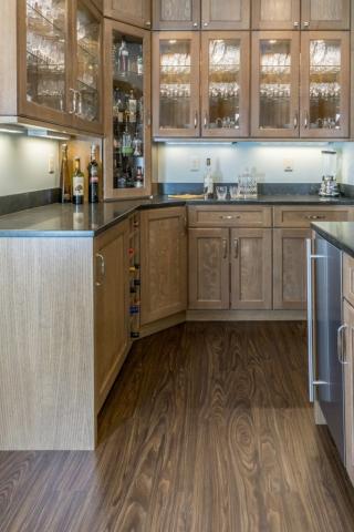 kitchen beverage bar remodeling photo