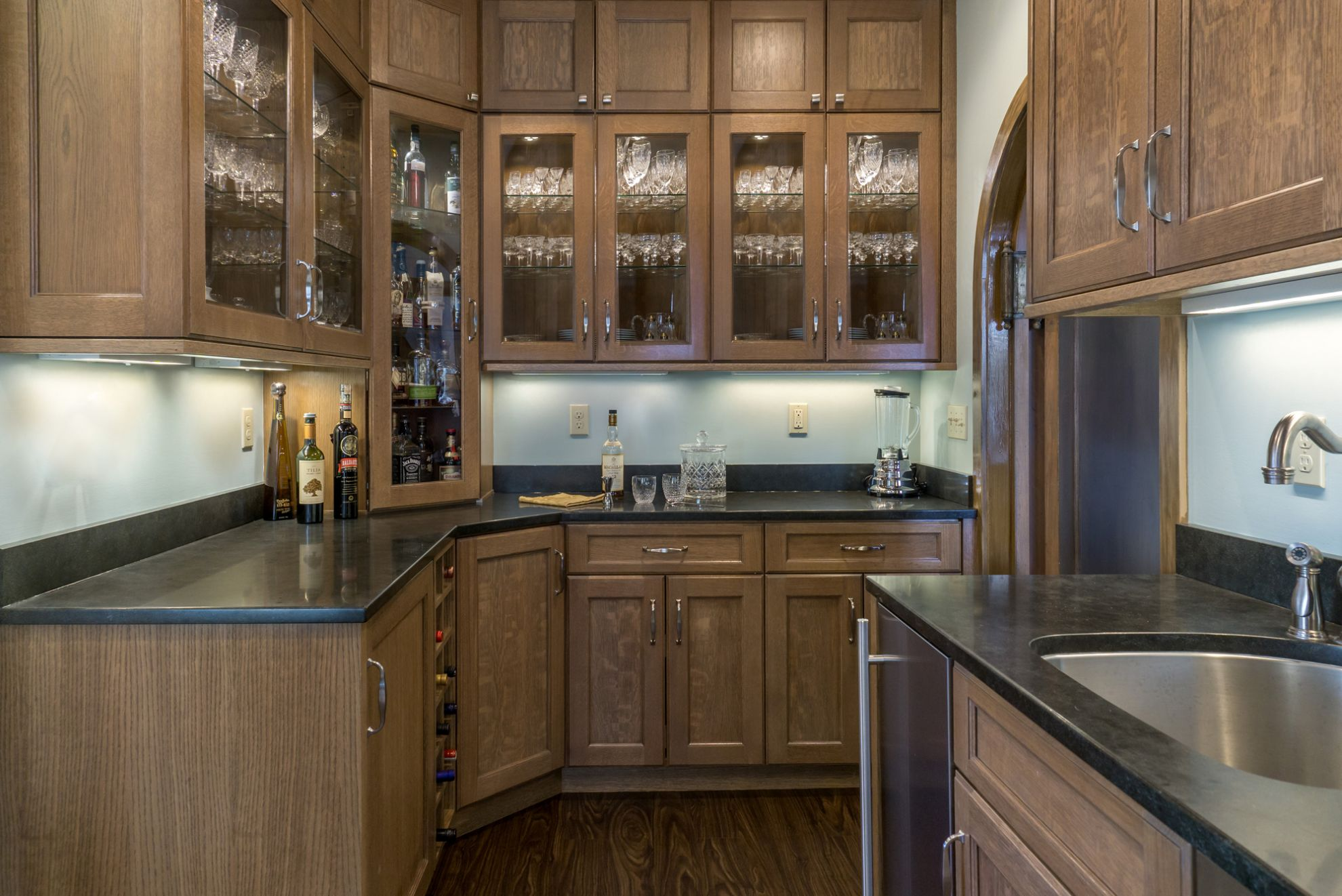kitchen beverage bar remodeling photo