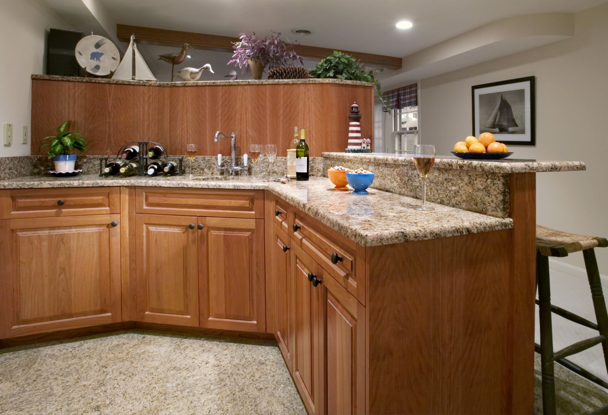 basement bar remodeling photo