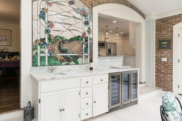 kitchen beverage center remodeling photo
