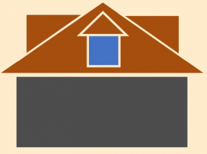 illustration of attic addition to home with dormers