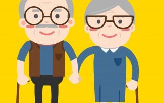 Senior Couple Graphic