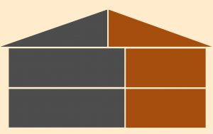 illustration of a multi-story home addition