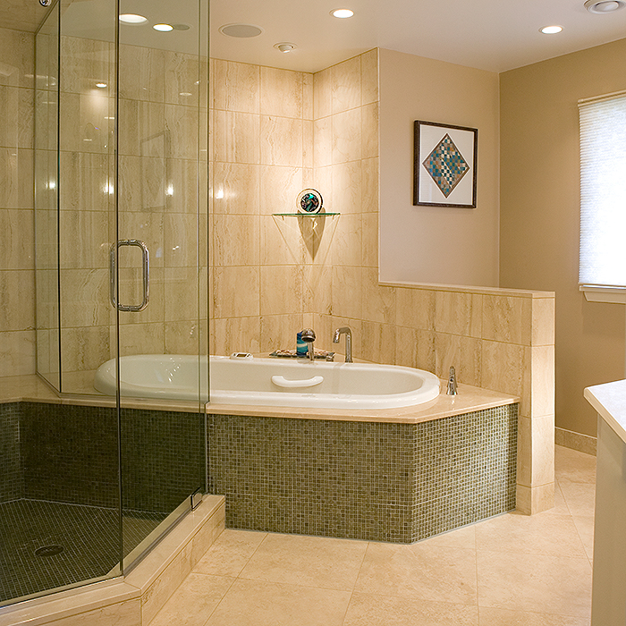 Master bathroom by Chagrin River Company
